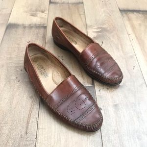 Santoni Leather Loafers Driving Moccasins Shoes 10